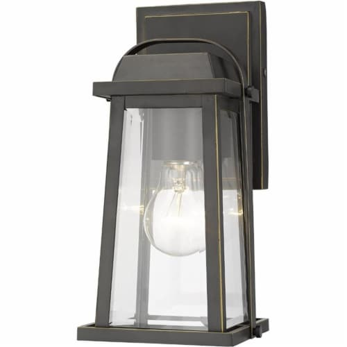 Millworks 1 Light Outdoor Wall Sconce Clear Beveled Perspective: front