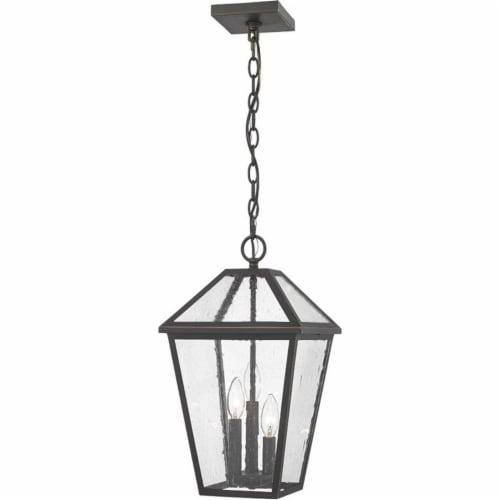 Z-Lite 3 Light Outdoor Chain Mount Ceiling Fixture Perspective: front