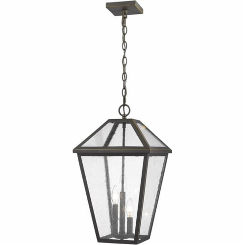 Z-Lite 3 Light Outdoor Chain Mount Ceiling Fixture Perspective: front