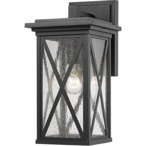 1 Light Outdoor Wall Sconce Frame Finish Black Perspective: front