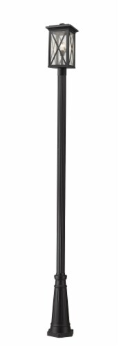 1 Light Outdoor Post Mounted Fixture Frame Finish Black Perspective: front