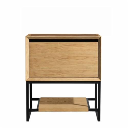 Alto 30 - California White Oak Cabinet Perspective: front