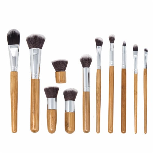 Zoe Ayla Professional Bamboo Make Up Brush Set Perspective: front