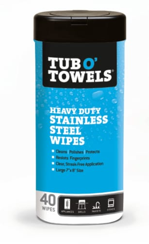 Tub O' Towels Heavy Duty Stainless Steel Wipes Perspective: front