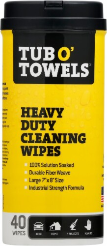 Tub O' Towels® Heavy Duty Cleaning Wipes Perspective: front