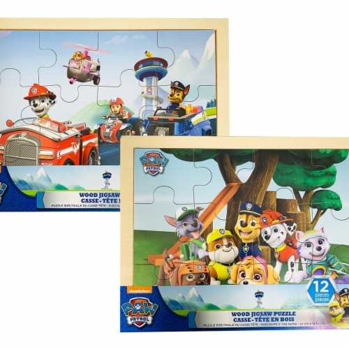 TCG Toys 30375760 Paw Patrol Wood Jigsaw Puzzle - 12 Piece, Assorted Designs Perspective: front