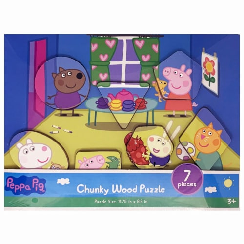 Spin Master 30375650 Peppa Pig Chuck Wood Puzzle Assorted Styles Perspective: front