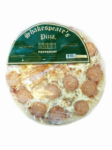 Shakespeare's Pepperoni Pizza Perspective: front