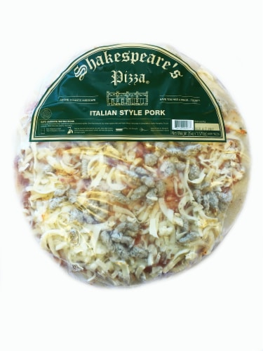 Shakespeare's Sausage Pizza Perspective: front