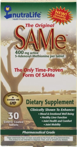 Nutralife The Original SAMe Dietary Supplement 400 mg Perspective: front