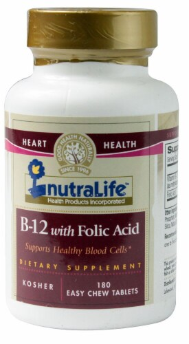 Nutralife  B-12 with Folic Acid Perspective: front