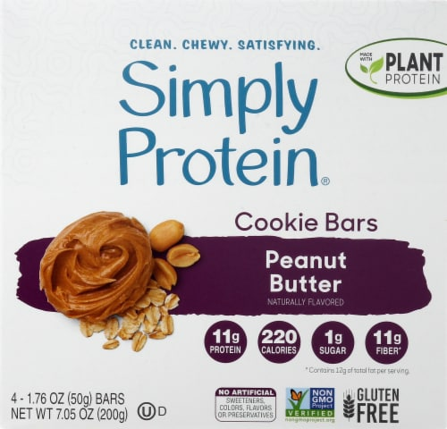 Simply Protein Peanut Butter Cookie Baked Bars Perspective: front