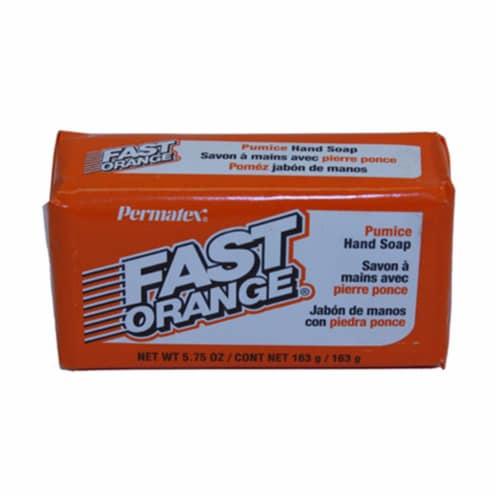 Permatex 25575 5.75 oz Fast Orange Pumice Bar Hand Soap Perspective: front