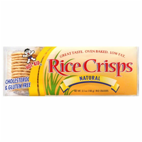 Hot-Kid Natural Rice Crisps Perspective: front