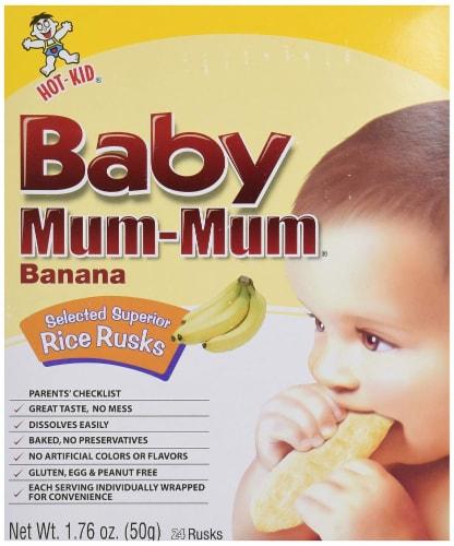 Baby Mum-Mum Banana Rice Rusks Perspective: front