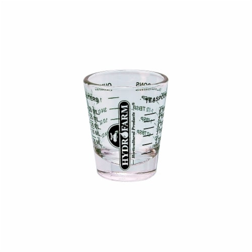 Hydrofarm Mini Measure Shot Glass  HGMMSG - Pack of 12 Perspective: front