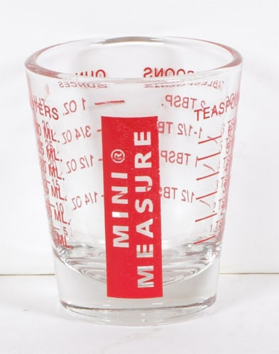 Harold's Kitchen 2 Tbsp. Glass Red Measuring Cup - Case Of: 12; Perspective: front