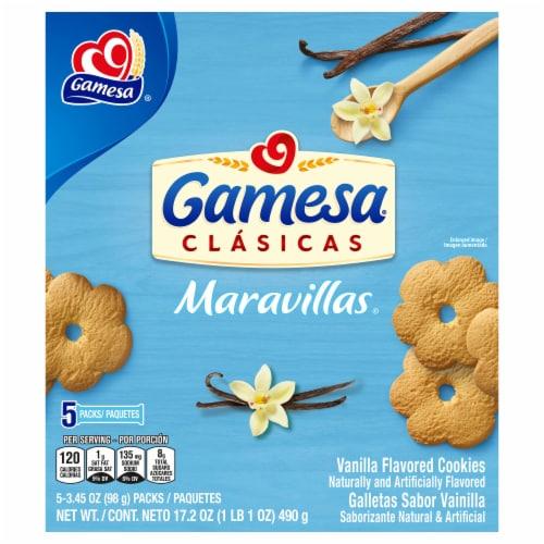 Gamesa Maravillas Vanilla Flavored Cookies Perspective: front