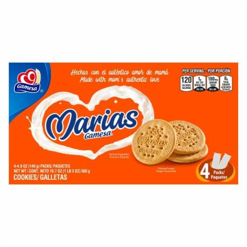 Gamesa Marias Vanilla Cookies 4 Count Snacks Perspective: front