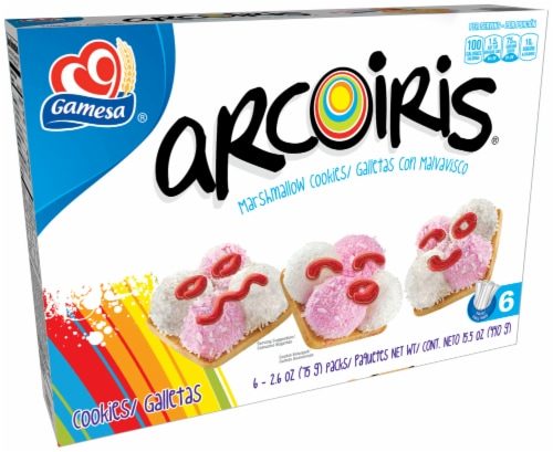 Gamesa Arcoiris Marshmallow Cookie Snacks Perspective: front