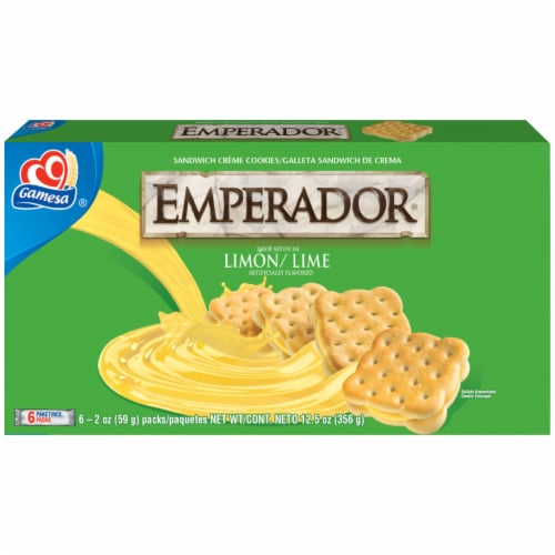Gamesa Emperador Lemon Lime Sandwich Cookies Perspective: front