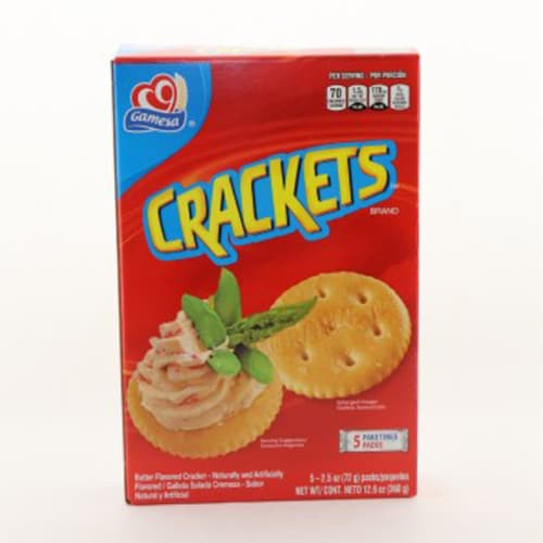 Gamesa Sabrosas Crackets Butter Flavored Crackers Perspective: front