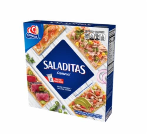 Gamesa Saladitas Saltine Crackers Perspective: front