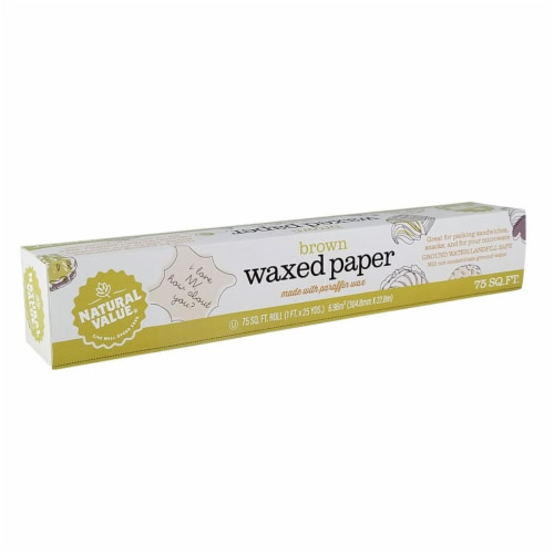 Natural Value Waxed Paper / 75-sq. ft. roll / 6-pack Perspective: front