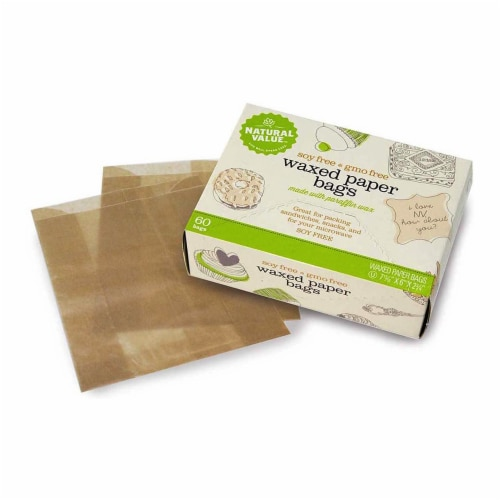 Natural Value Waxed Paper Bags / 60-ct. boxes / 6-pack Perspective: front