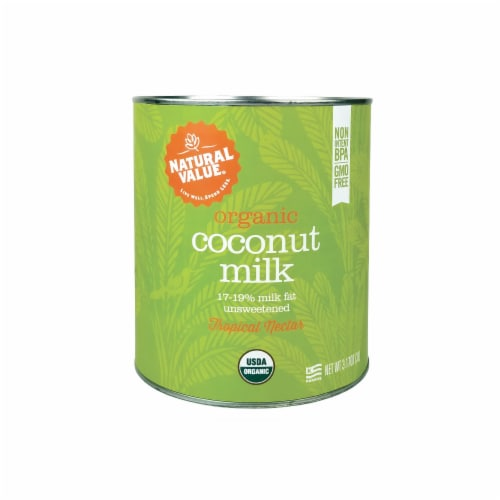 Natural Value 3-liter ORGANIC Coconut Milk / 96-oz. can Perspective: front