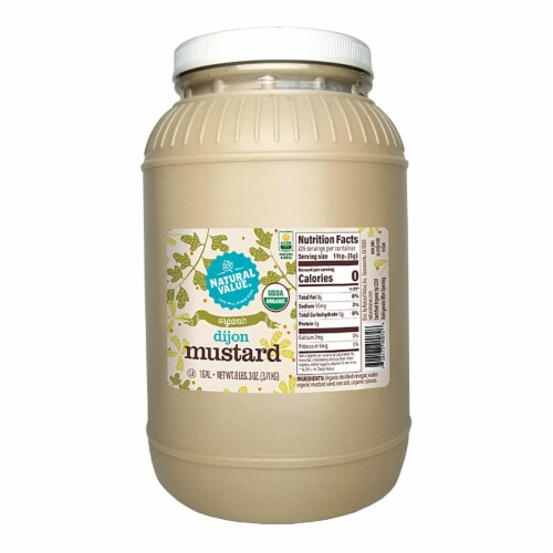 128-oz. Natural Value Food Service Organic DIJON Mustard / 2-ct. pack Perspective: front