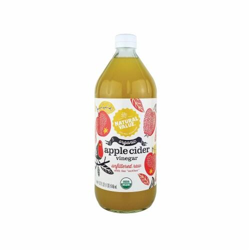 Natural Value 32 oz. Organic Apple Cider Vinegar / 12-ct. case Perspective: front
