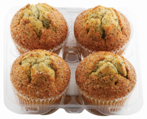 Layton Lemon Poppy Muffins 4 Count Perspective: front