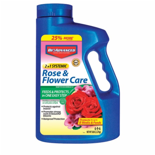 Bioadvanced 2 in 1 Systemic Rose & Flower Care Ready-to-Use Granules Perspective: front