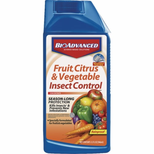 BioAdvanced Fruit Citrus & Vegetable Insect Control Concentrate Perspective: front