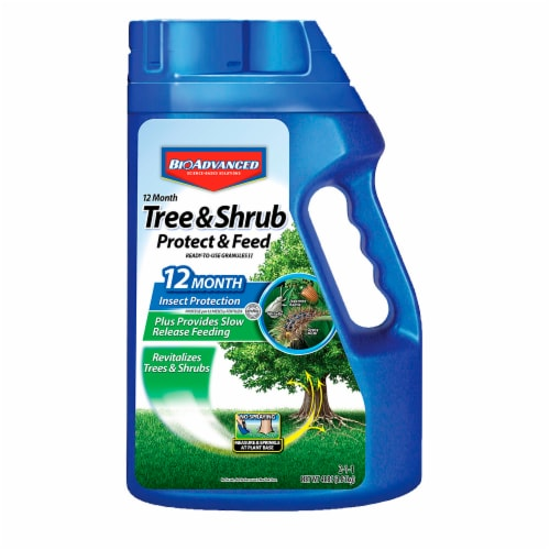 BioAdvanced 12 Month Tree & Shrub Protect & Feed II Granules Perspective: front