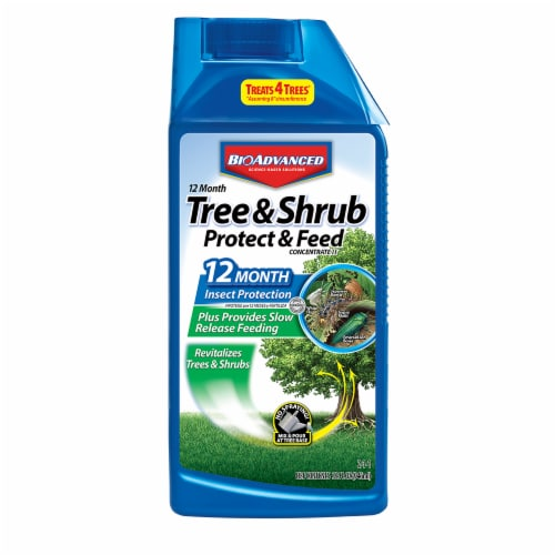 Bioadvanced 12 Month Tree & Shrub Protect & Feed Concentrate Perspective: front