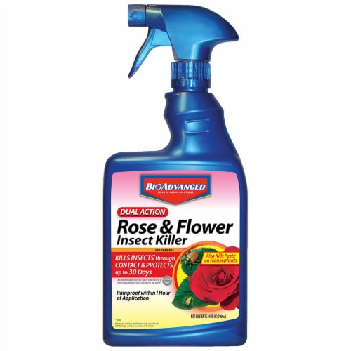 Bioadvanced Ready-to-Use Dual Action Rose & Flower Insect Killer Spray Perspective: front