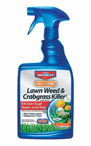 BioAdvanced All-in-1 24 Oz. Ready To Use Trigger Spray Crabgrass & Weed Killer Perspective: front