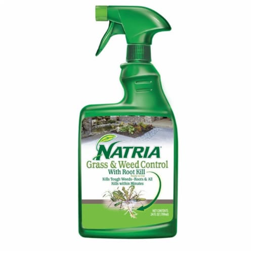 Natria Grass & Weed Control with Root Kill Spray Perspective: front