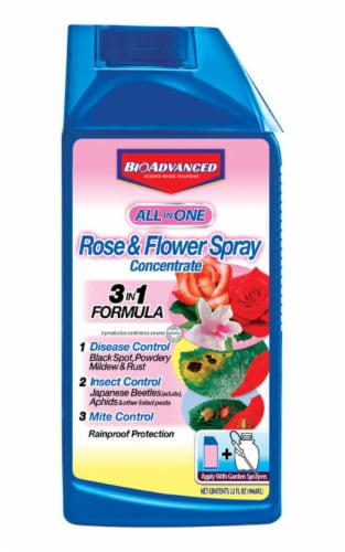 Bioadvanced All in One Rose & Flower Spray Concentrate Perspective: front