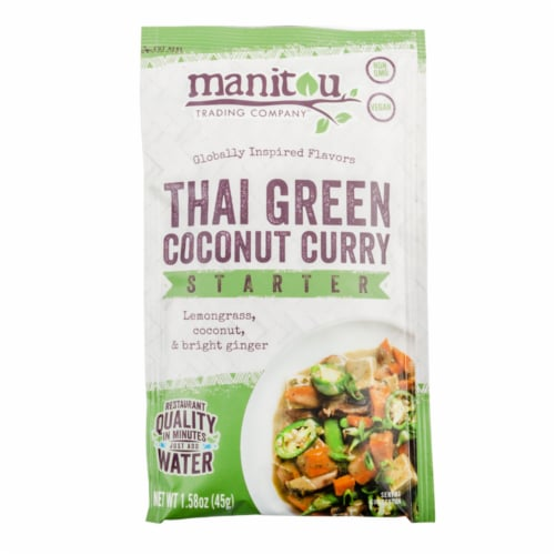Manitou Trading Company Vegan Thai Green Coconut Curry Starter Perspective: front