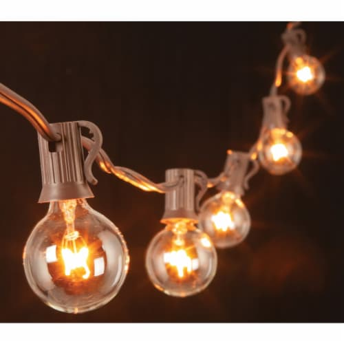 Gerson 20 Ft. 20-Light Clear Bulb String Lights 2201300 Perspective: front