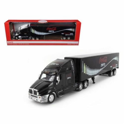 Motorcity Classics MCC434617 Coca Cola Zero Tractor Trailer 1-64 Diecast Model Perspective: front