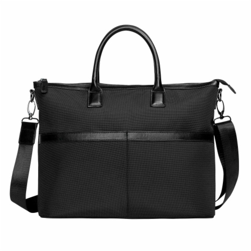 Marin Collection Water Resistant Tote Bag Black Perspective: front