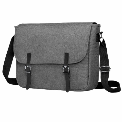 Marin Collection Messenger Bag Grey Perspective: front
