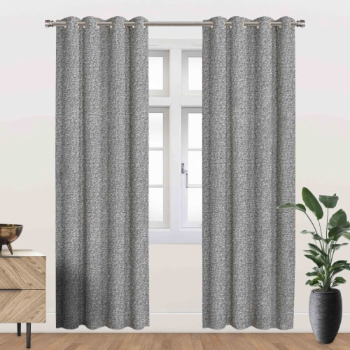 """Heath Energy Saving Blackout Thermal Grommet Curtain Panel Grey 54""""x95"""" Perspective: front"""
