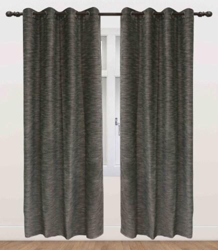 "Columbia Pan Blackout Grommet Curtain Panel Black 54""x95"" Perspective: front"