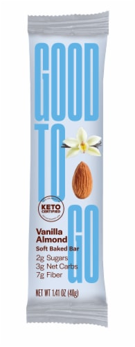 Good To Go Vanilla Almond Keto Snack Bar Perspective: front