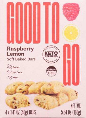 Good To Go Raspberry Lemon Soft Baked Keto Snack Bars Perspective: front